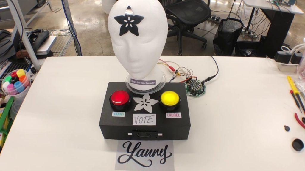 CircuitPlayground CRICKIT Yanny vs Laurel