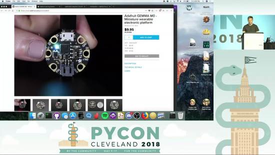 Lightning Talk at Pycon - CircuitPython! video