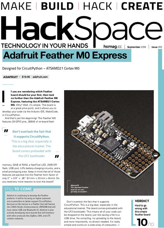 Python in Microchip & a 10 out of 10 for FEATHER from HackSpace!