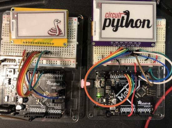 Python snakes its way to eInk displays! #Python #Adafruit