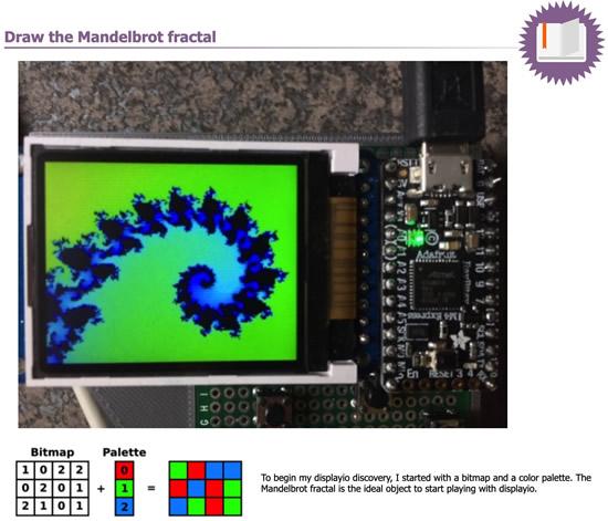 Mandelbrot fractal with CircuitPython