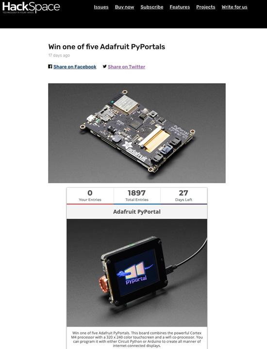 PyPortal giveaway