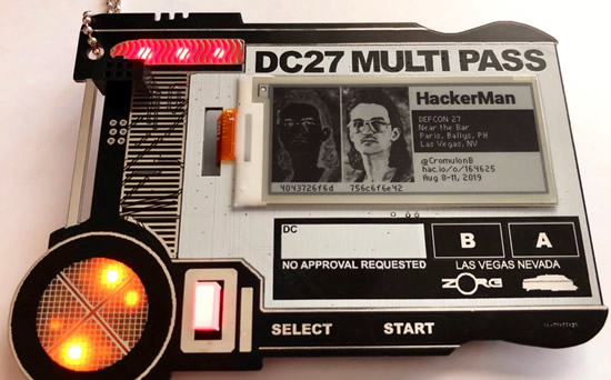MULTI PASS / DEF CON 27 Indie Badge