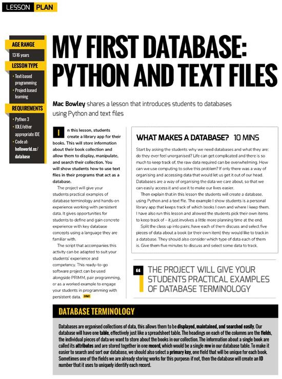 databases using Python