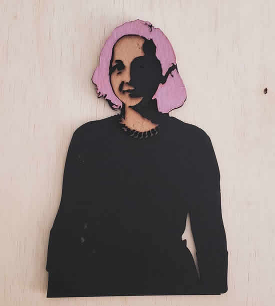 Ladyada, on wood, Brazil