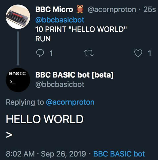 BBC basic bot