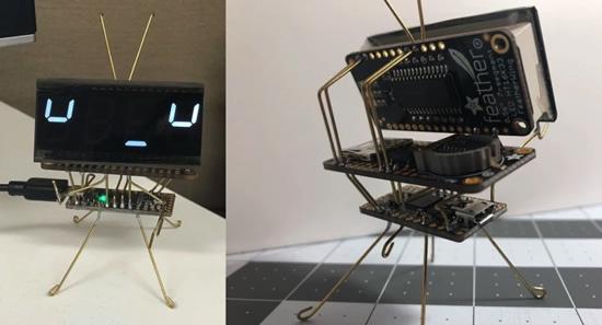 CircuitPython sculpture clock