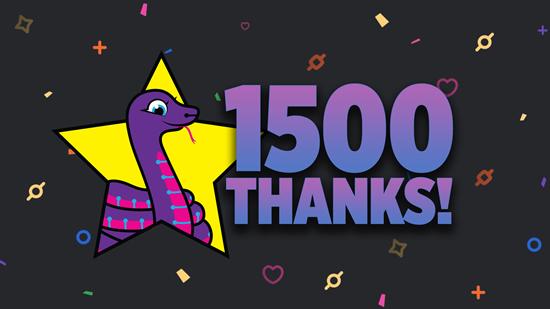 1500 thanks