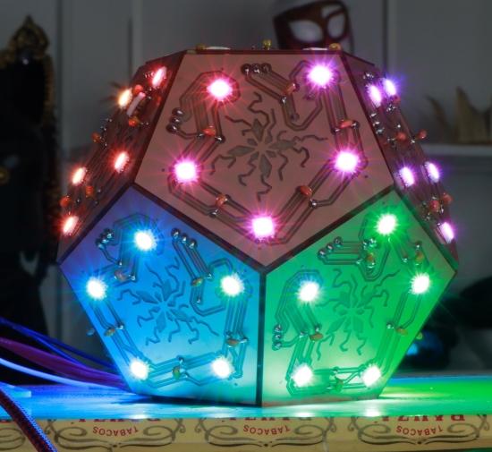NeoPixel dodecahedron