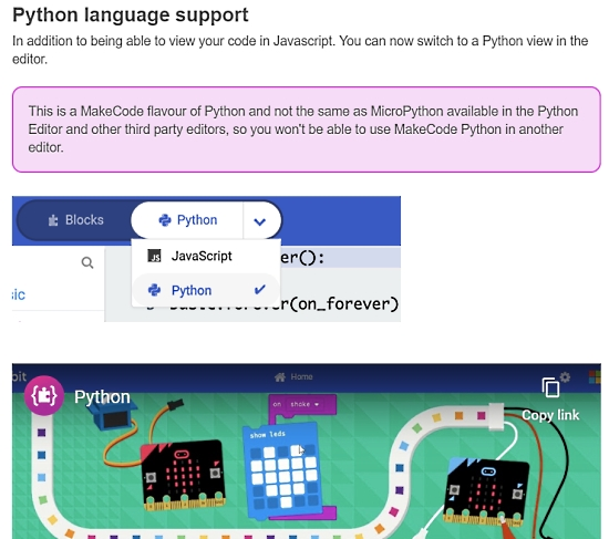 MakeCode for micro:bit 2020