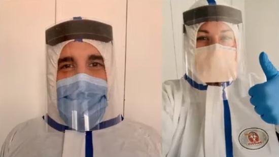 Doctors using Adafruit PPE