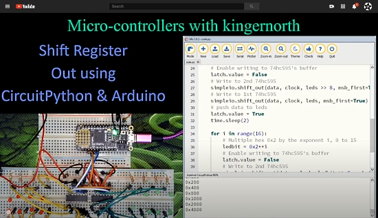 Shift register out with CircuitPython and Arduino