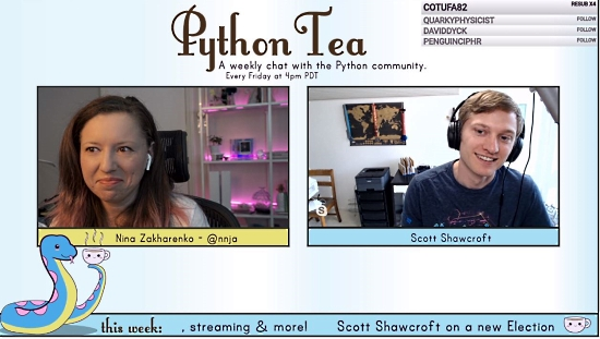 Scott on Nina's Python Tea