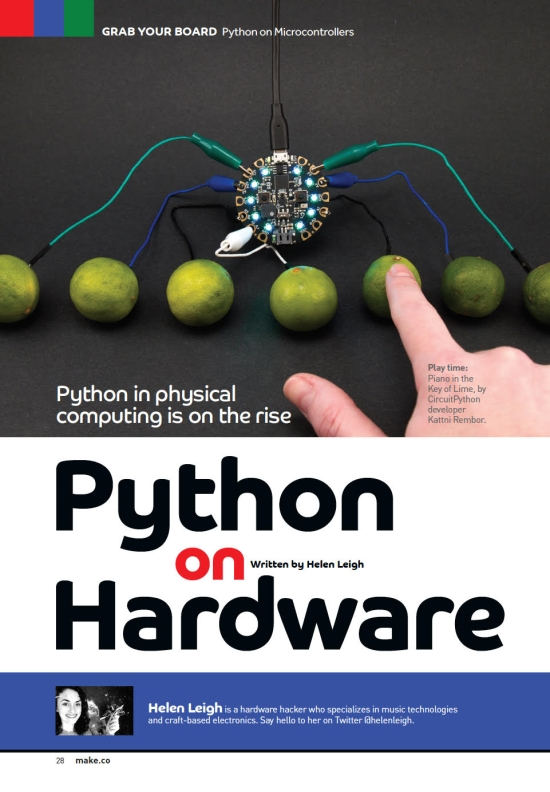 Make: Magazine - The Rise of Python