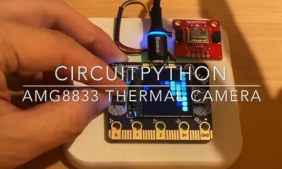 Thermal Camera with Adafruit CLUE