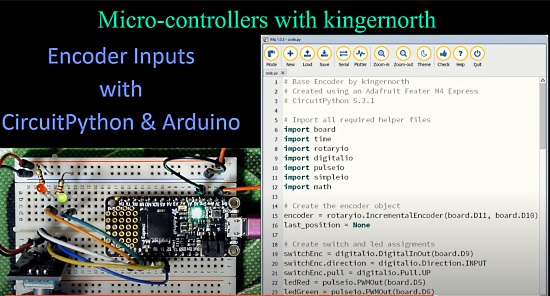 Encoder Inputs with CircuitPython & Arduino