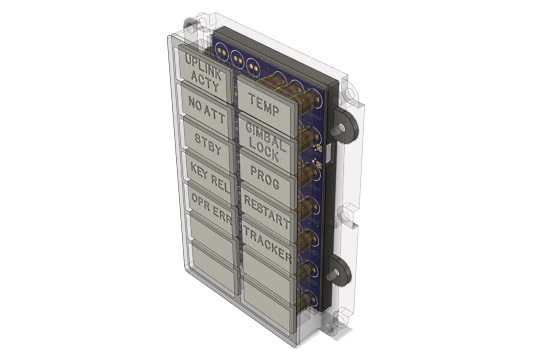 DSKY Alarm Indicator Panel Replica