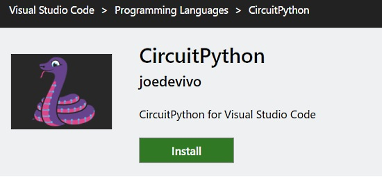 VSCode plugin for CircuitPython
