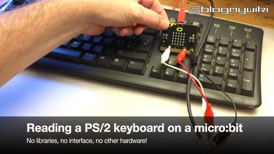 Read a PS/2 keyboard on a BBC micro:bit