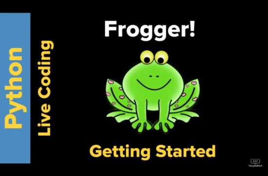 Live coding Frogger in Python