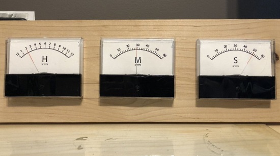 Analog Meter Clock