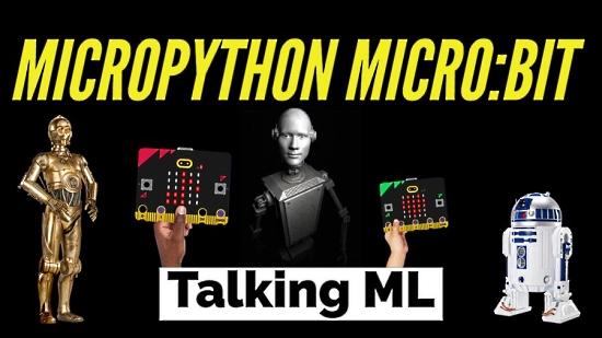 MicroPython-micro-bit Talking ML