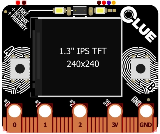 ESP32-S2 based CLUE board