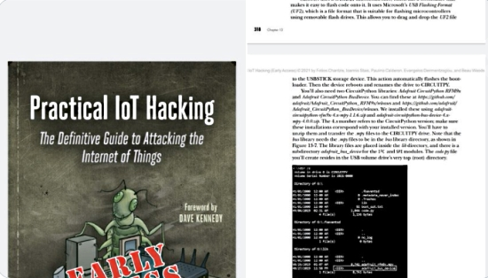 Mention of CircuitPython in the book Practical IoT Hacking