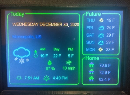 PyPortal Titano Weather Display