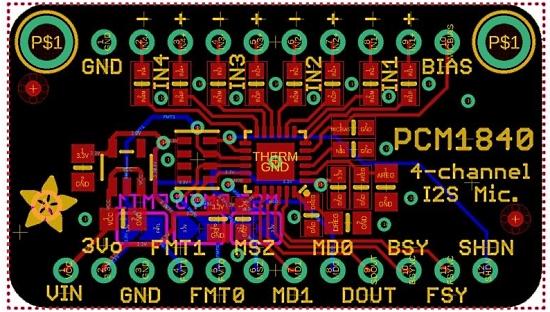 PCM1840 Quad Input Microphone I2S ADC