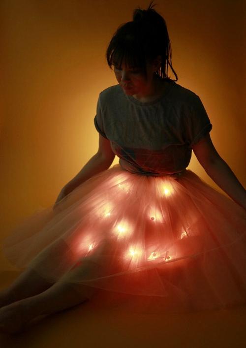 NeoPixel tulle skirt