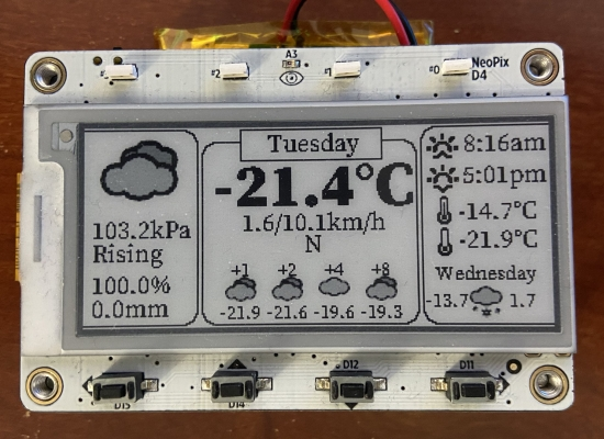 Weather station monitor