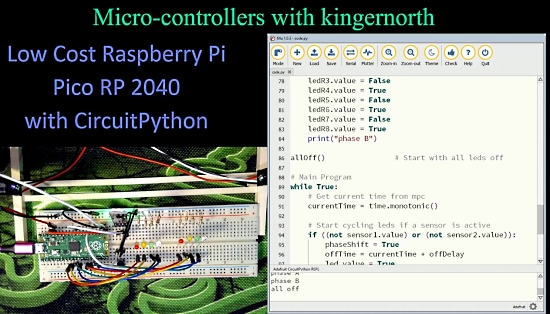 Low Cost Raspberry Pi Pico RP2040 Microcontroller with CircuitPython