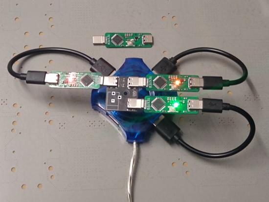 CircuitPython on custom USB-C testers