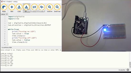 Control an LED Using CircuitPython