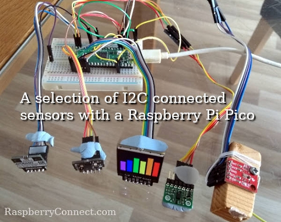 Trying Raspberry Pi Pico with I2C devices using CircuitPython