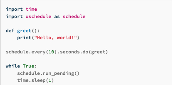 uschedule for CircuitPython