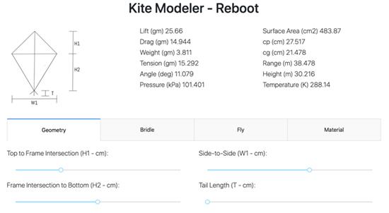 Kite Modeler - Reboot