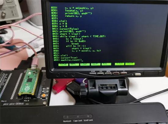 Pico boots to MicroPython