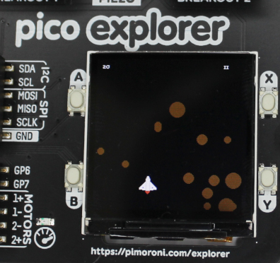 Pico space game