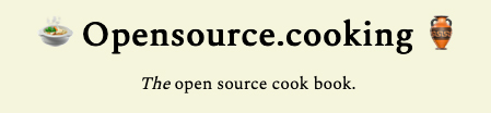 Open source cooking