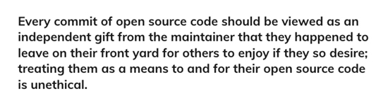 Open Source definition quote