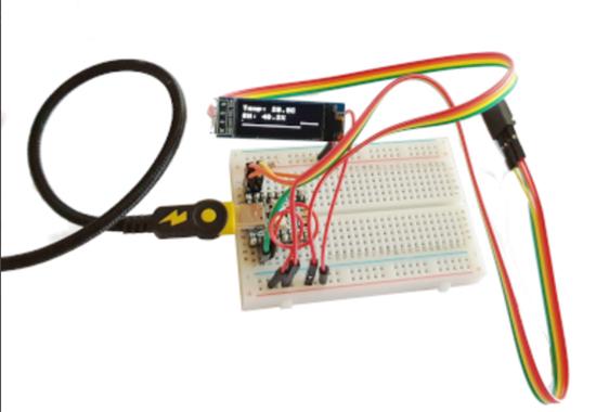 Tiny2040 temp sensor with display