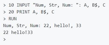 Python interpreter in BASIC