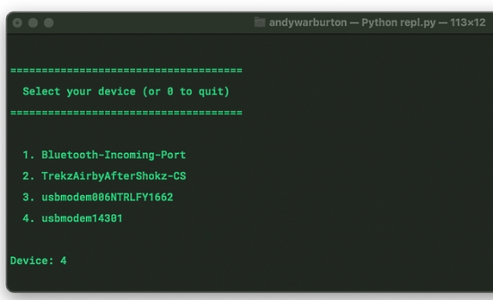 Connecting to the CircuitPython REPL quick and easy