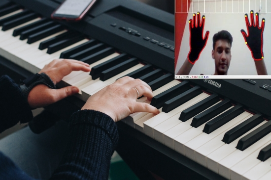 Air Piano using OpenCV and Python