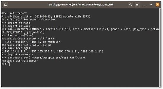 MicroPython LAN