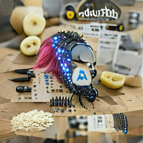 """Adafruit"" made with VQ-GAN + CLIP"