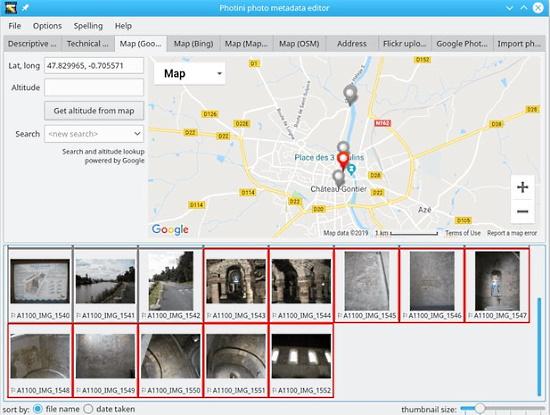 Photograph metadata editing app