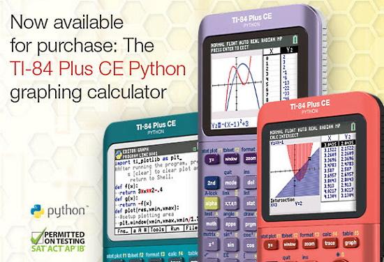 TI-84 Plus CE Python graphing calculator
